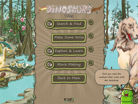 Dinosaurs App Contents